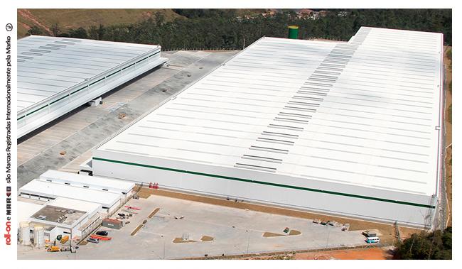 Roll-on é a cobertura metálica ideal para Grandes Construções